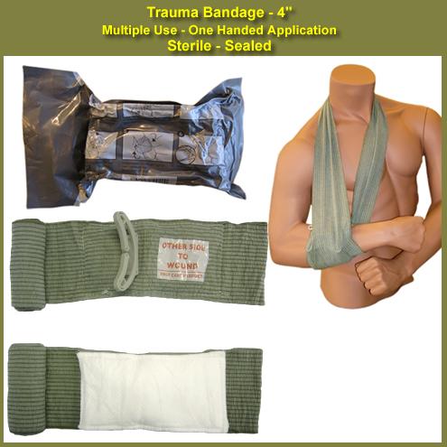 """Israeli Emergency Bandage - 4""""    www.chinookmed.com"""