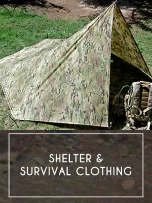 (3) Shelter - Survival Clothing - Body Items