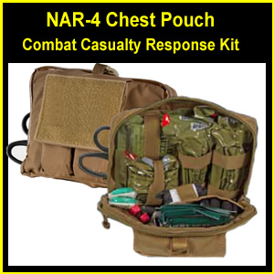 NAR-4 Chest Pouch Tactical Combat Casualty Response Kit -with QuikClot Combat Gauze (80-0173-76)