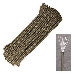 Marbles Outdoors Genuine 550 Parachute Cord 7-Strand - 100 ft- Multicam (SMRG1121H)
