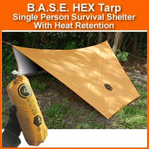 BASE HEX Tarp Survival Shelter (20-51144-1) & BASE HEX Tarp Survival Shelter (20-51144-1) | SurvivalMetrics.com ...