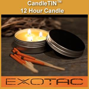 Candle-TIN Survival & Emergency Long Burn Candle (candletinsmall)
