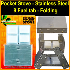 Pocket Survival Stove - Stainless Steel (SM353642)