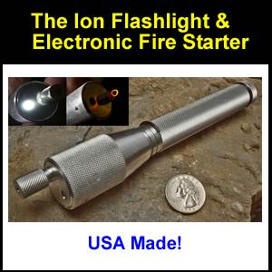 ION Flashlight & Electronic Firestarter (ion)
