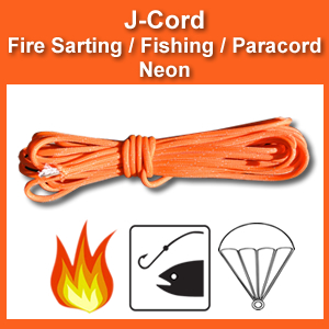 J-Cord - Neon Rescue: Fire, Fishing, Paracord Combo (JC-N)