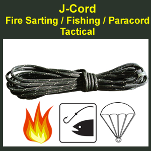 J-Cord - Tactical: Fire, Fishing, Paracord Combo (JC-T)