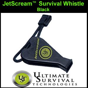 JetScream Survival Whistle by UST - Black (SM900-0001-002)