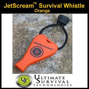 JetScream Survival Whistle by UST - Orange (SM300-0041-001)