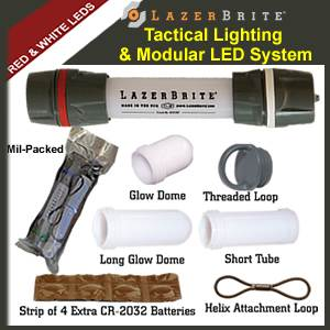 LazerBrite® Tactical Light System - Red & White (LB2-103-LHF)