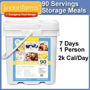 Lindon Farms™ 90 Serving Emergency Food Storage Kit  (SM1250)