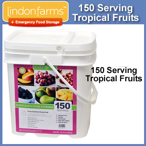 Lindon Farms™ 150 Serving Emergency Freeze Dried Tropical Fruits Bucket (SM4085)