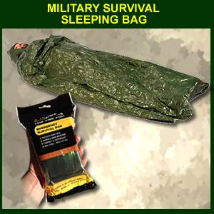Military Survival Sleeping Bag - Olive Drab/ Silver Liner (SM61430)