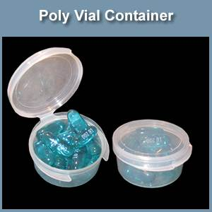 Polyethylene Container 0.5 oz Pill Box (SM341001)