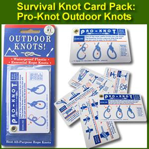 Pro-Knot Survival Knot Tying Reference Cards (764511253002)