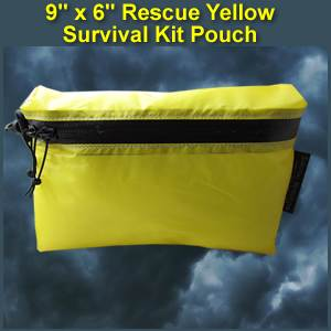 9 X 6 Rescue Yellow Survival Kit Pouch (largeyellowpouch)