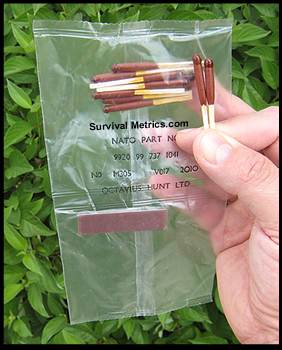 Wind and Waterproof Matches Vacuum Pak of 10 (SM21265)
