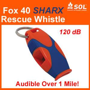 Fox 40 SHARX Rescue Whistle - 120dB (sharx)