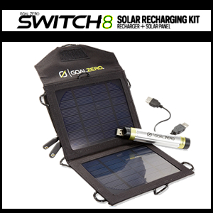 Switch 8 Solar & USB Recharging Kit by GOAL0 (41001)