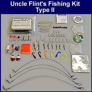Uncle flint 39 s survival fishing kit ii for Survival fishing kit