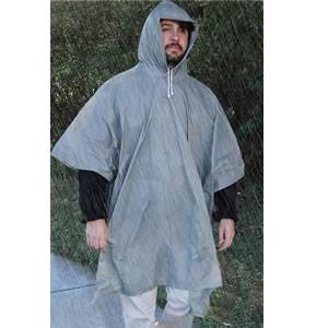 All-Weather Emergency Poncho - Adult - Grey (SM-20-RNW0002-02)