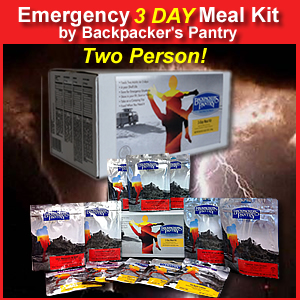 Emergency Three Day Two Person Meal Kit (048143094500)