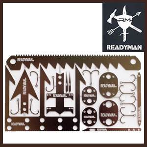 Readyman Wilderness Survival Card (SMRYM01)