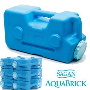AquaBrick® Water & Food Stackable Storage Containers - 2 Pack (AQUABRICK-57053)