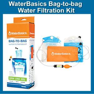 WaterBasics Bag-TO-Bag Water Filtration Kit (SM67252)
