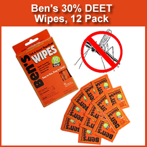 Bens 30  DEET Tick & Insect Repellent 12 Pc Wipes (SM0165-7085)