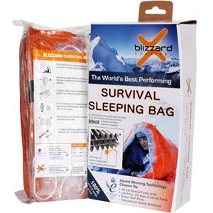Blizzard Survival Sleeping Bag - Orange (BPS-11R)