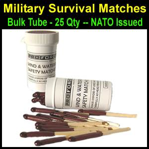 Survival Matches Bulk Tube - NATO (SM21050)
