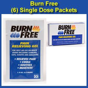 BurnFree® Single Dose Packet Burn Treatment 6 Pack (SD-6 )