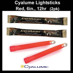 "Cyalume ChemLight Light Sticks 6"", 12hr., 2pk. (SM9-55590)"