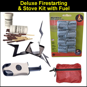 Deluxe Survival Fire Starting and Stove Kit (DELUXEFIRE)