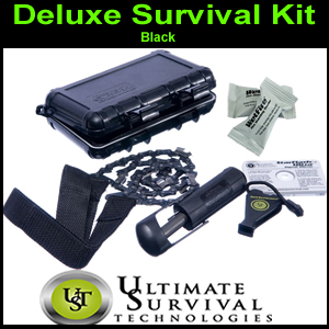 Deluxe Survival Kit, BLACK,  by UST (SM900-0016-001)