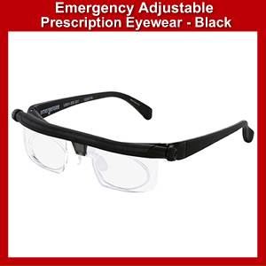 Emergency adjustable prescription eyewear (SMadlens)
