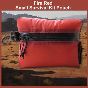 Fire Red Small Survival Kit Pouch (redpouch)