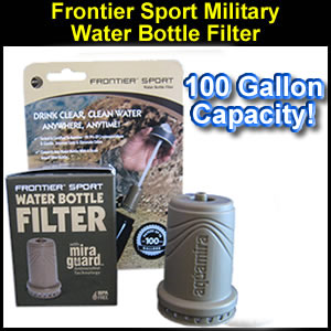 Frontier Sport Water Bottle Filter - Military Edition (SM67108)