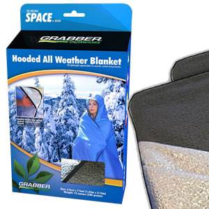 SPACE® Brand All Weather Blanket - HOODED-6ftx6ft -OLIVE DRAB (SM-8313-HGR)