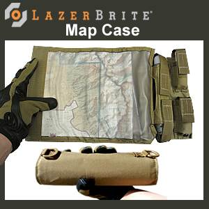 LazerBrite® Tactical Light System Map Case (LB2-502-E)