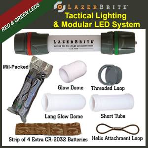 LazerBrite� Tactical Light System - Red & Green (LB2-105-LHF)