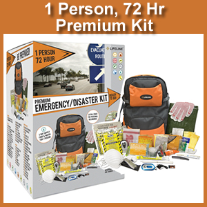 Lifeline 1 Person 72 Hour Premium Emergency Kit (4047)