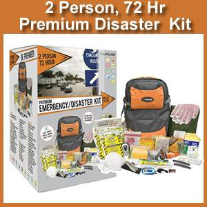 Lifeline 2 Person 72 Hour Premium Emergency Kit (4048)