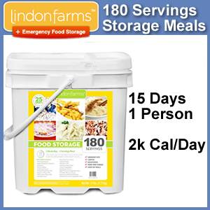 Lindon Farms™ 180 Serving Emergency Meals Bucket (SM1249)