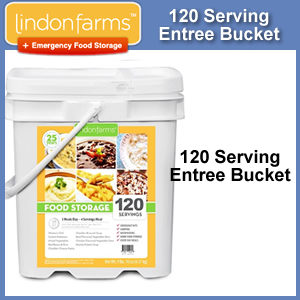 Lindon Farms™ 120 Serving Emergency Entree Bucket (SM4036)
