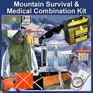 Mountain Survival & Medical Combination Kit (mountainkit)