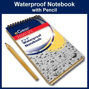 Waterproof Notebook with Pencil (26-310-116)