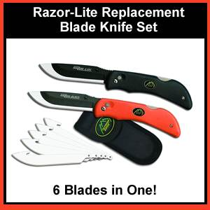 Razor-Lite Replacement Blade Knife System With 6 Blades (RB-10-20-C)