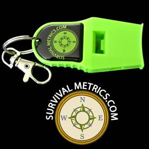Rescue Whistle-Tri Power-Neon Green (SMRW-G)