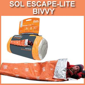 SOL Escape-Lite Bivvy Breathable Survival Sleeping Bag (SM0140-0227)